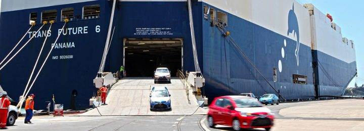 Collecting a car from the port